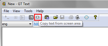 Copy text from a selected area
