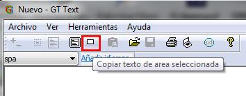 Como copiar texto de cualquier area seleccionada con GTText programa de reconocimiento ocr gratis