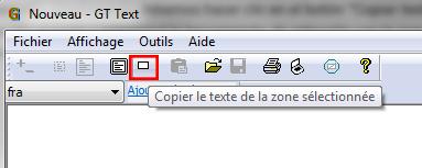reconnaissance texte dans image copier Texte d'une zone séleccionnée